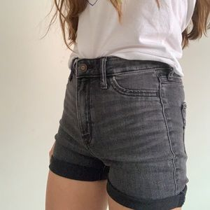 Hollister black high waisted jean shorts